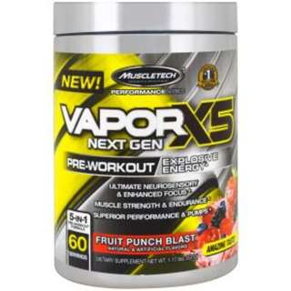 Muscletech, Peformance Series, VaporX5 Net Gen, Fruit Punch Blast, 1.17 lbs (531 g)