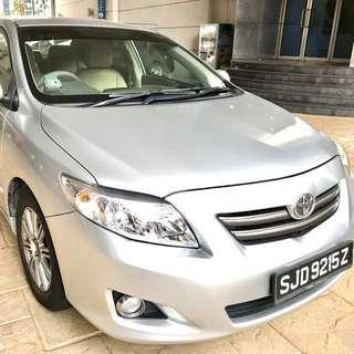 Car Rental - Toyota Altis 1.6A - $310 per week