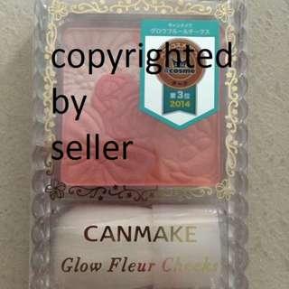 Brand New CANMAKE Glow Fleur Cheek Shade 02