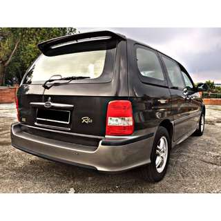 NAZA RIA 2.5 GS (A) 1 OWNER ORI MILEAGE 73K (7 SEATED) 2004/05