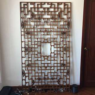 Indian Pure Wood Antique Room Divider