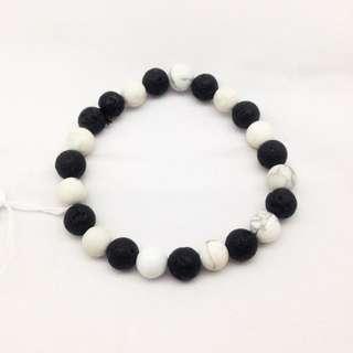 Bracelet Lava + Onyx
