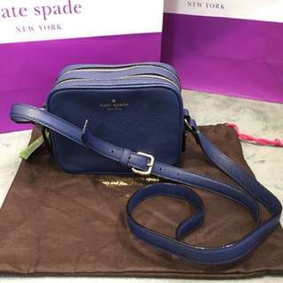 「正品」Kate Spade NY Mulberry Street Pyper Pebbled Leather Crossbody Bag