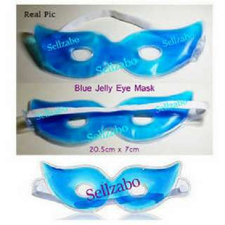Eyes Care : Relax Tired Sleeping Blue Gel Relaxing Masks With Sellzabo Cooling Warm #B