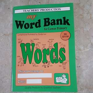Word Bank for Lower Primary