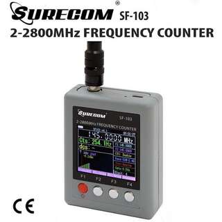 409shop surecom SF-103 Portable Frequency Counter 2MHz - 2.8GHz
