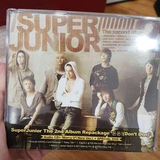 Super Junior 2nd Album Repackaged.