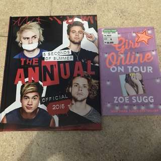 Paket hemat buku 5SOS & Zoe Sugg