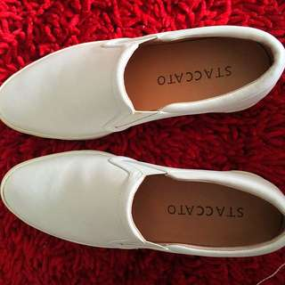 Staccato White Shoes