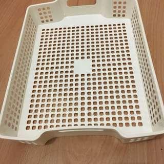 White paper tray