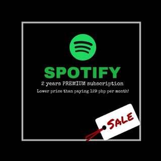 Spotify Premium 2 years