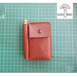 Leather Cigarette Case with Lighter slot