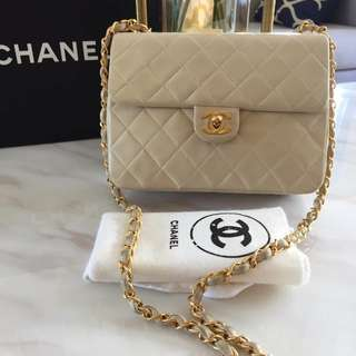 Chanel Vintage Lambskin Mini Flap