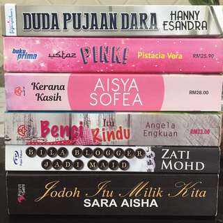 Malay Novels for Sale