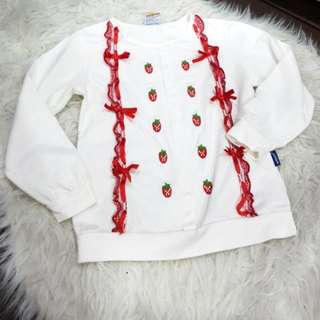 Girl's strawberry Top (5-6y/o)