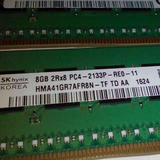 8GB 2R8 PC4 - 2133P RE0 - 11 PC4 SERVER RAM