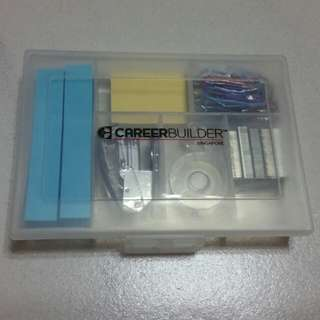 Mini stationery kit staple clips note pads