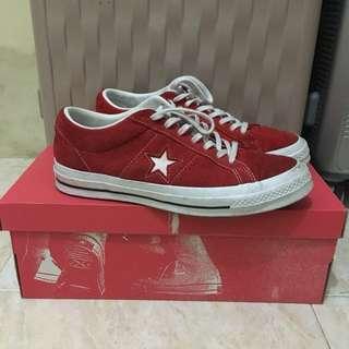 Converse One star premium suede red