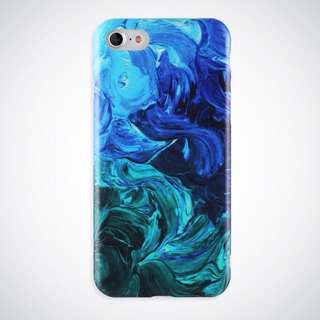 Cool Blue and Green Case for iPhone