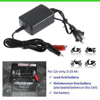 Battery Charger - Motorcycle Motorbike Bike Scooter