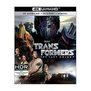 Brand New Transformers: The Last Knight 4K blu ray disc(sealed)