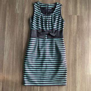 Alyssandra striped dress with ribbon
