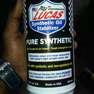 Lucas synthetic oil stabilizer