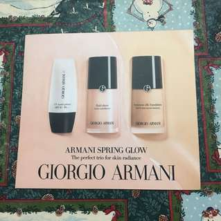 Giorgio Armani Spring Glow perfect trio for skin radiance (fluid master primer, luminous silk foundation, fluid sheer)
