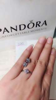 Pandora earrings with rings