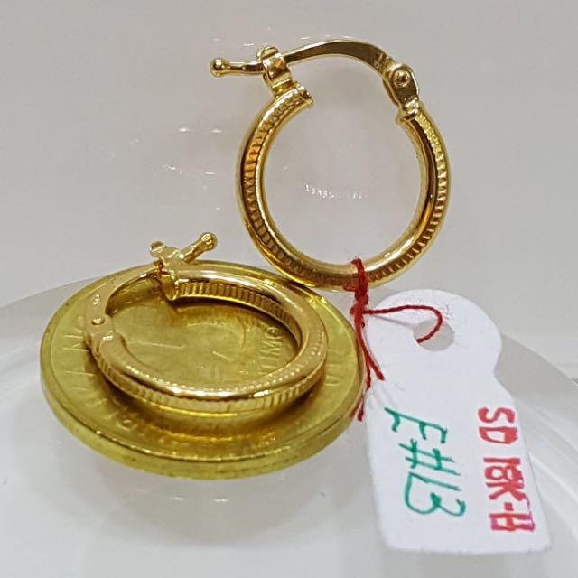 18karat saudi gold loop earrings