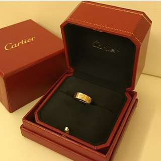 Authentic Yellow Gold Cartier love ring Sz 47