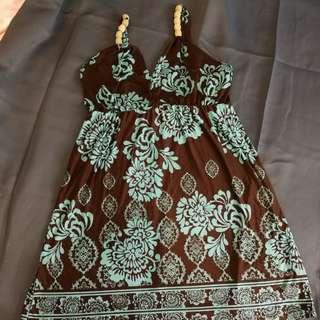 Preloved Silk Dress in Floral Motive