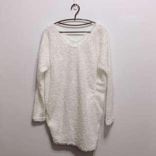 🚚 韓●毛絨感長版上衣