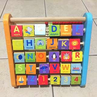 Wooden Learning Shelf