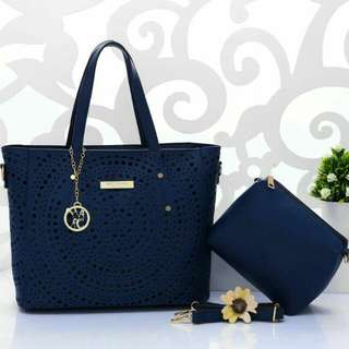 Marc Jacobs Tote Bag 2 in 1 Blue Color