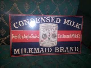 Poster condensed milk