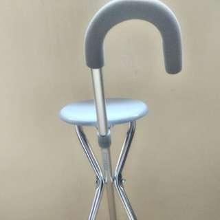 Cane Chair  |  Walking cane with seat