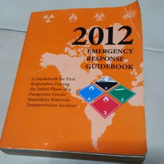 Emergency response guidebook 2012 edition