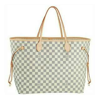 On-hand Bags Neverfull GM Damier Azur and Monogram
