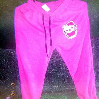 Hello kitty pink pants for kids