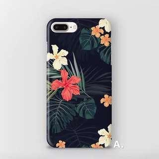 靚花機殻-Tropical Floral Print iPhone Case