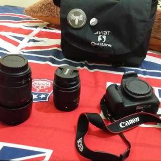 Camera dslr Canon 1200d + Lensa Tamron