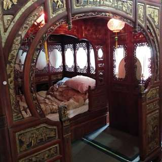 Antique Redwood Chinese Wedding Bed