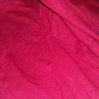 Baju blus menyusui maroon