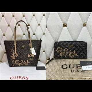 Authentic GUESS Bag with wallet