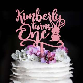 Customized Coloured Acrylic Cake Topper