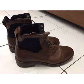 ZARA BOOTS BROWN MULUS 100% (40)