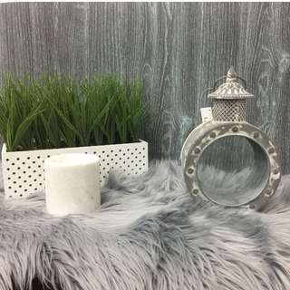 Candle Lantern Washed Distressed Look