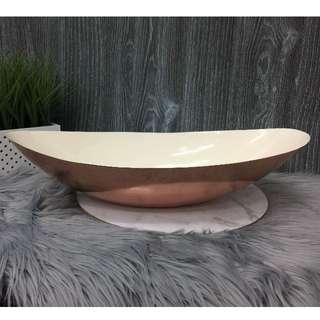 Rose Gold Boat Shape Display Dish