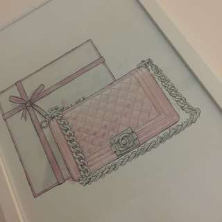 Chanel Bag Framed Print